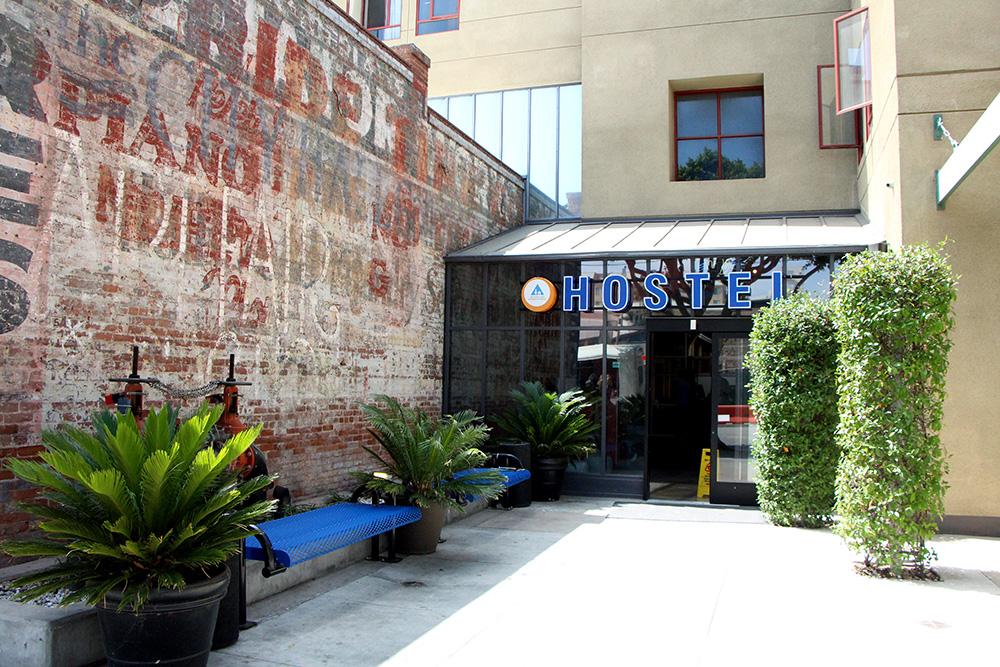 Entrada do Hostelling International em Santa Monica, California (Foto: Matheus Misumoto)
