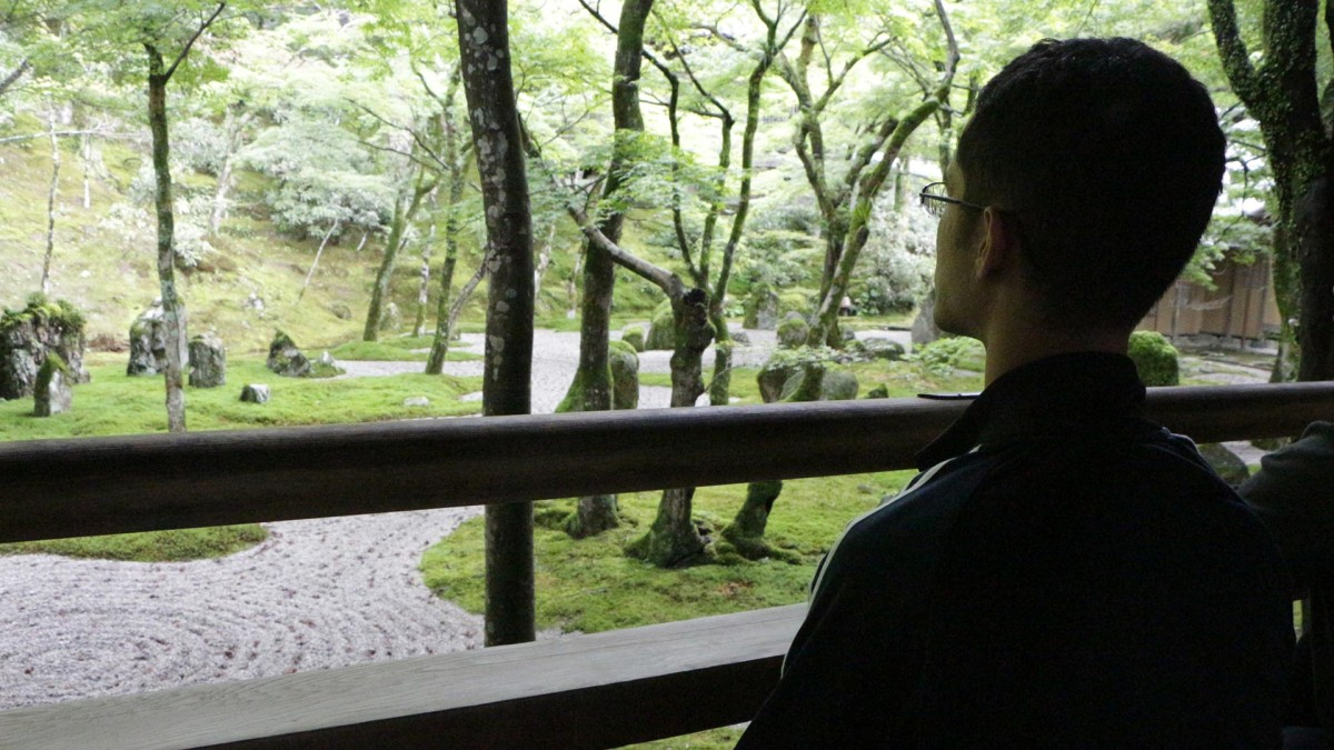 Meditating in a Zen Buddhist temple in Japan